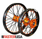 KTM WHEELS KTM85SX 12-18 SET EXCEL RIMS FASTER USA HUBS NEW 17/14 BLACK SPOKES