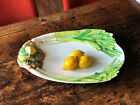 Large white ceramic platter made in Italy