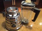Vintage CHROME OSTERIZER #403 DELUXE BEEHIVE 2 SPEED BLENDER USA