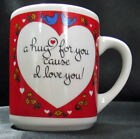 Abbey Press A Hug For You Cause I Love You Hearts Flowers Birds Coffee Mug Cup