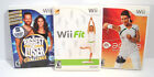 The Biggest Loser Challenge WII FIT EA Sports Active Nintendo Wii 3 Game Lot