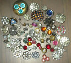 VINTAGE METAL RHINESTONE BUTTONS - COLORS - AURORA