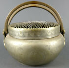 Fine Old Chinese Metal Engraved Hand warmer Scholar Work Of Art