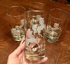 's 1960's Drinking Glasses Frosted Horses