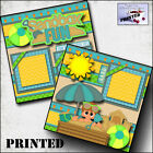 SANDBOX FUN boy 2 premade scrapbook pages printed paper piecing layout BY CHERRY