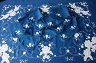 2.1m Vintage Hand Made Embroidered Floral Applique Tablecloth 16 Napkins Job Lot