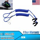 × PWC Jet Ski WaveRunner Key Lanyard Stop Kill Switch Safety BLUE For Yamaha US