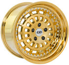 17x9 5x120 Gold Chrome ESM 015 Wheels Rims BMW E36 M3 318ti 325i 328i