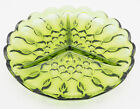 Vintage Fairfield Depression Glass Avocado Green Divided Relish Dish 8.62 Inch