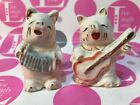 VINTAGE PIGS PLAYING MUSICAL INSTRUMENTS Salt  Pepper Shakers Set Japan