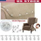 30PCS Set Clear Head Twist Pins Fixer Fastener For Upholstery Slipcover Bedskirt