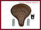Royal Enfield 500cc Bullet Standard Electra Leather Brown Color Seat With Spring
