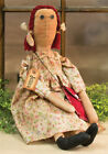 Primitive JESSICA DOLL Country Fabric Cloth Rag Farmhouse Folk Art Farmhouse
