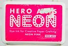 Neon Pink Pigment Stamp Dye Ink Pad Acid Free Tested Embossing Stamping