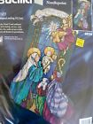NEW BUCILLA Needlepoint CHRISTMAS Stocking Kit NATIVITY Wool Rossi 60755 SEALED