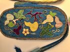 Antique Chinese Silk Embroidery Case Pouch Gold Thread as is