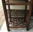 Antique Chinese hard wood occasional table stand ice crackle Huanghuali Qing