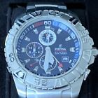 Festina Watch Chronograph 0560 Alarm WR 100m Blue Face Stainless Steel