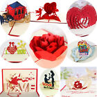 Handmade 3D Pop Up Greeting Cards Birthday Valentines Love Gift Holiday Postcard