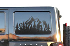 Outdoor Mountain Scene Decal Fits Jeep Wrangler JKU JLU 4Dr Rubicon HS30M