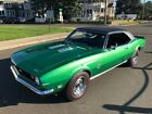 1968 Camaro 1968 CHEVY CAMARO SS CUSTOM V8 4 SPEED RALLY GREEN AMAZING