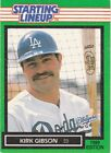 1989 Kenner Starting Lineup Cards #48 Kirk Gibson Dodgers