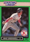 1989 Kenner Starting Lineup Cards #52 Mike Greenwell Red Sox