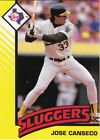 1993 Kenner Starting Lineup Cards #6 Jose Canseco Athletics Sluggers