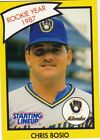 1989 1990 Kenner Starting Lineup Cards  Chris Bosio Brewers