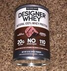 Designer Protein Natural 100% Whey Protein Gourmet Chocolate 12 oz