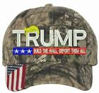 Donald Trump BUILD THE WALL WITH HAIR DEPORT THEM ALL CWF305 Camo USA Adj Hat