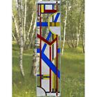 Colorful Art Deco Glass Window Panel Suncatcher 1025 x 42 Vertical
