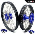 KKE 21/19 Mx Wheels Rims Set Fit HUSABERG FE FC 250 350 390 450 501 2004 Rotor