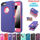 Heavy Duty Waterproof Shockproof Armor Full Case Cover For iPhone 7 8 6 6s Plus