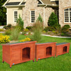 Weather Resistant Dog House Kennel Pet Shelter Cage Doggie Home Outdoor Ground