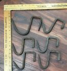 (6)ANTIQUE HAND FORGED IRON BEAM HANGERS - HANGING MEAT HOOKS-