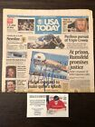 2004 Autograph Signed Olympian Michael Phelps USA Today Newspaper COA