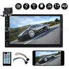7 Double 2 DIN Car MP5 Player Stereo Audio Touch Screen FM Radio BT USB +Camera