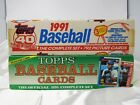 1990 & 1991 Topps Baseball Card COMPLETE Sets in Box 1500 + Cards | 13878
