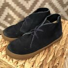 Crewcuts J Crew Boys Size 2 MacAlister Navy Blue Suede Sneaker Boots