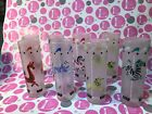 Libby Frosted Carousel Circus Animal 9 Tall Glasses EXC!