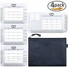 4PCS Envelope Addressing Guide Stencil Templates Rulers Fits Wide Sewing Card