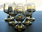 MCM Set of 6 Tiny Libbey Tawny Brown ACCENT 1 1/2 oz Cordial Liqueur Shot Glass