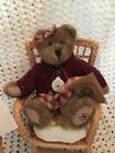 Boyds Fob '97 Teddy Bear With Sweater And Checkered Dress