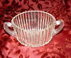 Vintage Clear Ribbed Pressed Glass Anchor Hocking