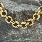 14k Yellow Gold Antique Heavy Rolo Link Chain Necklace 20 3 4 Long
