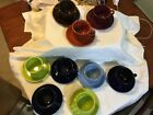Fiestaware cups/saucers lot 18 pc HLC paprika,chocolate,periwinkle,cobalt,lime