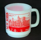 New York City Skyline ~ Vintage Milk Glass Ovenware Mug