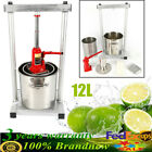 12L Fruit Wine Press Cider Grape Crusher Juice Grinder Mill w Hydraulic Jack US
