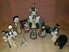 Native American Indian southwest Nativity Vintage 14 Pcs Resin Metal